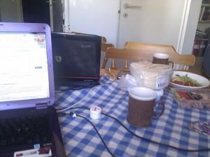 Frukostbordet, före frukost