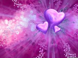 Lila hjärtan en lila dag