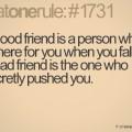 Finns äkta vänskap?